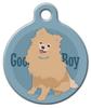 Dog Tag Art Good Boy Pomeranian Pet ID Dog Tag