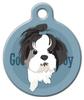 Dog Tag Art Good Boy Shih Tzu Pet ID Dog Tag