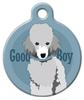 Dog Tag Art Good Boy Toy Poodle Pet ID Dog Tag