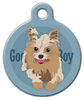 Dog Tag Art Good Boy Yorkshire Terrier Pet ID Dog Tag