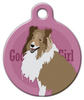 Dog Tag Art Good Girl Collie or Shetland Sheepdog Pet ID Dog Tag
