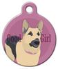 Dog Tag Art Good Girl German Shepherd Pet ID Dog Tag