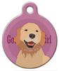 Dog Tag Art Good Girl Golden Retriever Pet ID Dog Tag