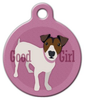 Dog Tag Art Good Girl Jack Russel Terrier Pet ID Dog Tag
