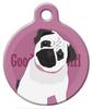 Dog Tag Art Good Girl Pug Pet ID Dog Tag