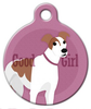 Dog Tag Art Good Girl Greyhound Pet ID Dog Tag