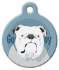 Dog Tag Art Good Boy English Bulldog Pet ID Dog Tag