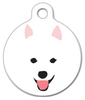 Dog Tag Art Eskie in a Snowstorm Pet ID Dog Tag