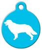 Dog Tag Art Golden Retriever Silhouette Pet ID Dog Tag