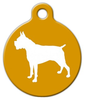 Dog Tag Art Boxer Silhouette Pet ID Dog Tag