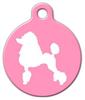 Dog Tag Art Poodle Silhouette Pet ID Dog Tag