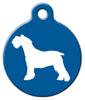 Dog Tag Art Miniature Schnauzer Silhouette Pet ID Dog Tag