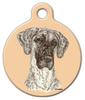 Dog Tag Art Brindle Great Dane Pet ID Dog Tag