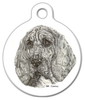 Dog Tag Art Bloodhound Pet ID Dog Tag