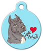 Dog Tag Art Love A Pitbull Pet ID Dog Tag