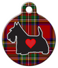 Dog Tag Art Tartan Scottie Pet ID Dog Tag