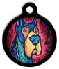 Dog Tag Art Colorful Great Dane Pet ID Dog Tag