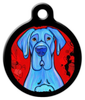 Dog Tag Art Blue Great Dane Pet ID Dog Tag