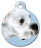 Dog Tag Art White Pit Bull Mix Pet ID Dog Tag