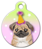 Dog Tag Art Birthday Pug Pet ID Dog Tag