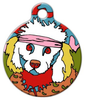 Dog Tag Art Skippy The Poodle Pet ID Dog Tag