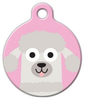 Dog Tag Art Poodle Doodle Girl Pet ID Dog Tag