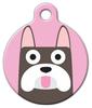 Dog Tag Art French Bulldog Girl Pet ID Dog Tag