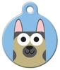 Dog Tag Art German Shepherd Boy Pet ID Dog Tag