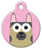 Dog Tag Art German Shepherd Girl Pet ID Dog Tag