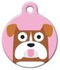 Dog Tag Art Bulldog Girl Pet ID Dog Tag