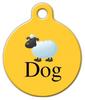Dog Tag Art Sheep Dog Breed Pet ID Dog Tag