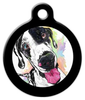 Dog Tag Art The Happy Harlequin Pet ID Dog Tag