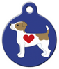 Dog Tag Art Jack Russell Terrier Pup Pet ID Dog Tag