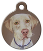 Dog Tag Art Labrador Retriever Portrait Pet ID Dog Tag