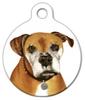 Dog Tag Art Boxer Portrait Pet ID Dog Tag