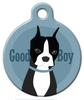 Dog Tag Art Good Boy Boston Terrier Pet ID Dog Tag