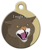 Dog Tag Art I Might Bite Pet ID Dog Tag