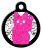 Dog Tag Art Pink Kitty Pet ID Dog Tag