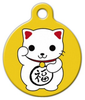 Dog Tag Art Maneki Neko Pet ID Dog Tag