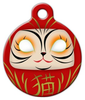 Dog Tag Art Daruma Cat Pet ID Dog Tag