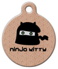Dog Tag Art Ninja Kitty Pet ID Dog Tag