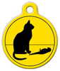 Dog Tag Art Bad Cat, Poor Bird Pet ID Dog Tag