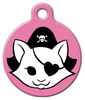 Dog Tag Art Pink Kitty Pirate Pet ID Dog Tag