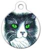 Dog Tag Art Black & White Cat Pet ID Dog Tag