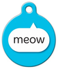 Dog Tag Art Blue Meow Pet ID Dog Tag