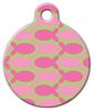 Dog Tag Art Pink Fish on Green Pet ID Dog Tag