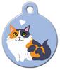 Dog Tag Art Calico Kitty Pet ID Dog Tag