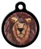 Dog Tag Art Watercolor Lion Pet ID Dog Tag