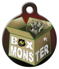 Dog Tag Art Box Monster Pet ID Dog Tag