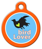 Dog Tag Art Bird Lover Pet ID Dog Tag